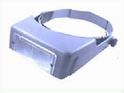 Jewelers magnifying glass visor